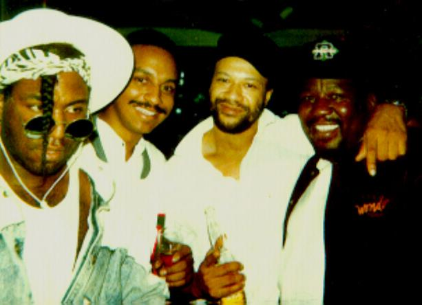 '' BASS SUMMIT ''....Me, Byron Miller,  Allen McGrier, &  Nathan Watts  in L.A.    ('87)